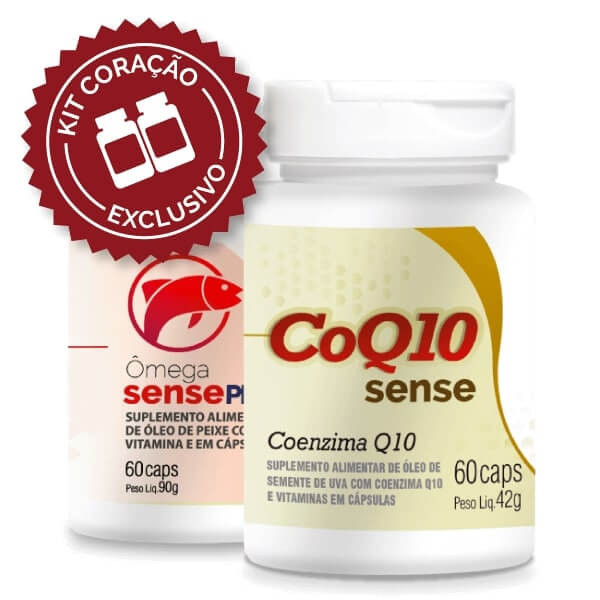 Kit Coração (CoQ10 Sense e Ômega Sense Pro)